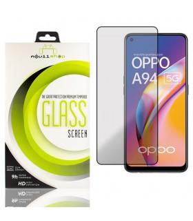 Cristal templado Full Glue Premium OPPO A94 5G Protector de Pantalla Curvo Negro