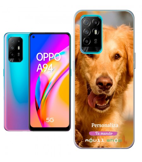 Personaliza tu Funda [OPPO A94 5G] de Silicona Flexible Transparente Carcasa Case Cover de Gel TPU para Smartphone