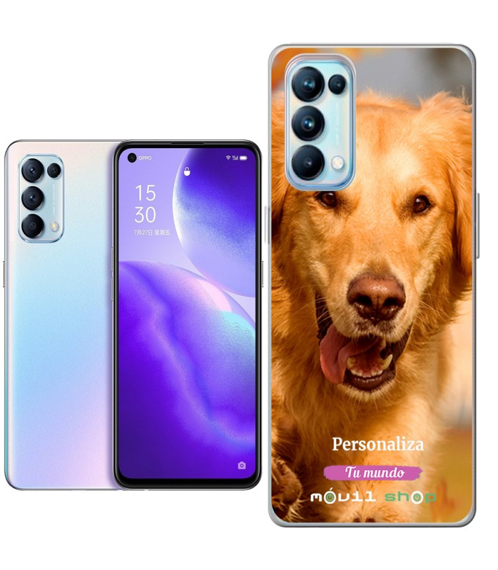 Personaliza tu Funda [OPPO Reno 5 5G] de Silicona Flexible Transparente Carcasa Case Cover de Gel TPU para Smartphone