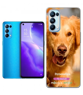 Personaliza tu Funda [OPPO Reno 5 Pro Plus 5G] de Silicona Flexible Transparente Carcasa Case Cover de Gel TPU para Smartphone