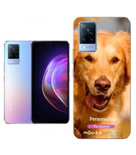 Personaliza tu Funda [Vivo V21 5G] de Silicona Flexible Transparente Carcasa Case Cover de Gel TPU para Smartphone