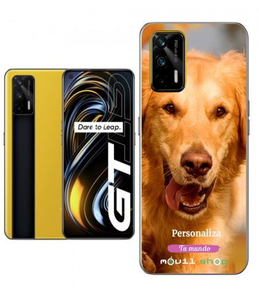 Personaliza tu Funda [Realme GT 5G] de Silicona Flexible Transparente Carcasa Case Cover de Gel TPU para Smartphone