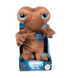 E.T. El Extraterrestre, Peluche Español con luz y Sonido 25cm