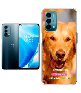 Personaliza tu Funda [OnePlus Nord N200] de Silicona Flexible Transparente Carcasa Case Cover de Gel TPU para Smartphone