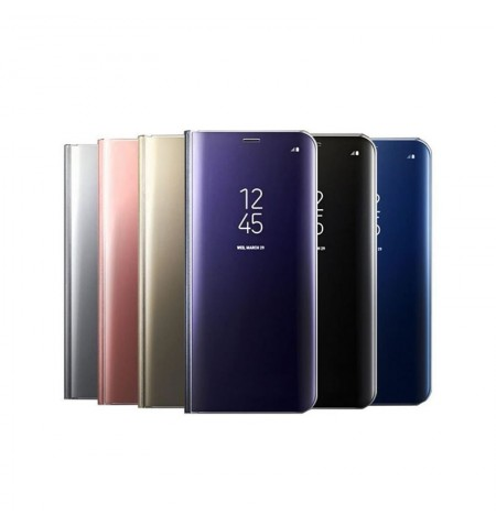 Funda Flip con Stand Huawei Y6 2019 Clear View - 6 Colores