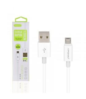 Cable de Datos y Carga APOKIN USB 2.0 a micro USB Carga Rápida 1.2m