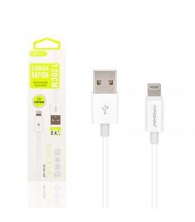 Cable de Datos y Carga APOKIN USB 2.0 a Lightning Carga Rápida 1.2m