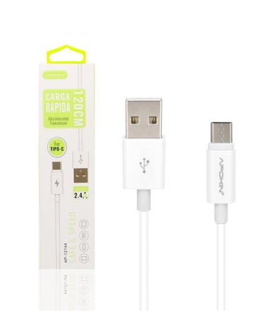 Cable de Datos y Carga APOKIN USB 2.0 a Tipo C Carga Rápida 1.2m