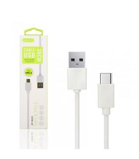 Cable de Datos y Carga APOKIN USB 2.0 a Tipo C Carga Rápida 30cm