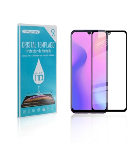Cristal templado Full Glue 11D Premium Samsung Galaxy A10 / M10 / M20 Protector de Pantalla Curvo Negro