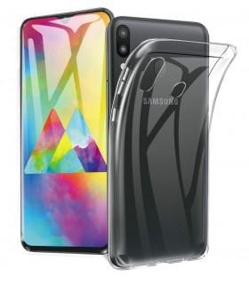 Funda Silicona Samsung Galaxy M20 Transparente Ultrafina
