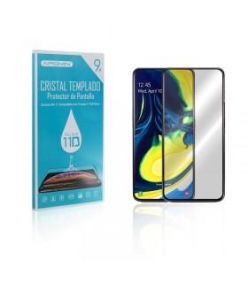 Cristal templado Full Glue 11D Premium Samsung Galaxy A80 / A90 Protector de Pantalla Curvo Negro