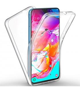 Funda Doble Samsung Galaxy A60 Silicona Transparente Delantera y Trasera