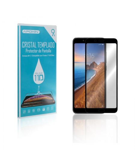 Cristal templado Full Glue 11D Premium Xiaomi Redmi 7A Protector de Pantalla Curvo Negro